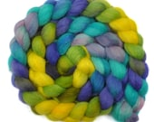 Hand dyed roving - Nylon / Blue Faced Leicester (BFL) wool 30/70% spinning fiber - 4.1 ounces - A Thousand Posies