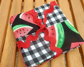 Watermelon Patchwork Coaster Set of 4
