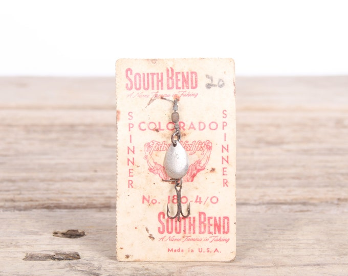 Vintage South Bend No 180 Metal Spinner Fishing Tackle / Vintage Fishing Lure / Antique Metal Fishing Lures / Old Fishing Gift