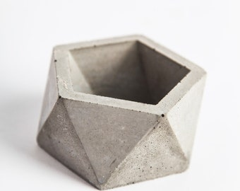 Concrete planter Etsy