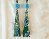 "Tin Jewelry Earrings ""Pop of Paisley"" Tin for the Ten Year Tenth Wedding Anniversary"