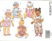 Butterick Classics Pattern 6675 Infants Jumpsuit, Hats & Romper w/ applique (NB-M) UNCUT