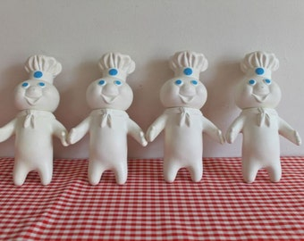 vintage 1971 Pillsbury Doughboy rubber toy
