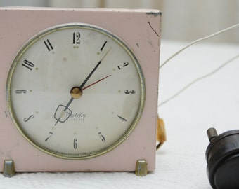 Pink Westclox Electric Clock