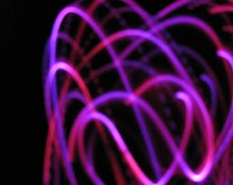 Red Sky LED- White LED hoop fully covered w/ Rubellite Color MORPH tape - day and night hoop in one