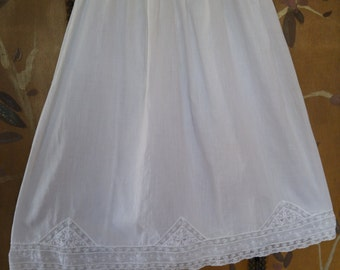 60s white baby gown