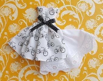 Black and White Bike Blythe Dress Set | Pullip Dress