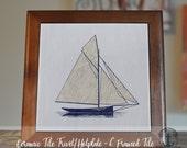 "Trivet Hot Plate:  Sailboat     6"" Ceramic Tile Trivet Kitchen Accessory    Product Sizes and Pricing via Dropdown Menu"