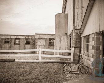 Dairy Barn in Sepia Down on the Farm Farmhouse Wall Decor