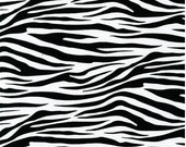 "END OF BOLT - Black & White Zebra From Robert Kaufman - 11"" X 44"""