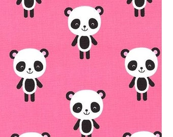 Pandas on Pink from Robert Kaufman's Urban Zoologie Collection by Ann Kelle