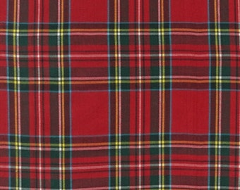 Red Plaid From The House of Wales By Robert Kaufman (Red1)