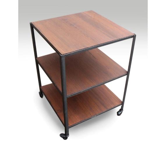 three shelf industrial rolling cart. Black Bedroom Furniture Sets. Home Design Ideas
