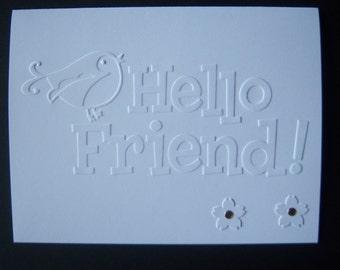 Embossed Friend Card