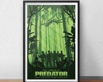 Predator - 12 x 18 inches - Movie Poster - Arnold Schwarzenegger