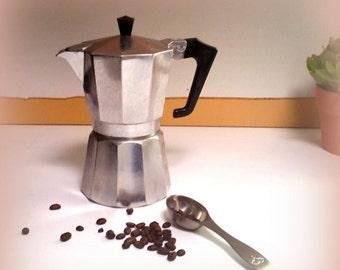 SUMMER SALE Italian Espresso Maker / Moka Pot - Two Cupper - Aluminum