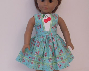 A spring dress for American Girl dolls and other similar 18 inch dolls