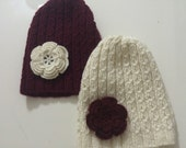 Mommy and Me Beanie Hat Set, Mother Daughter Hat Set