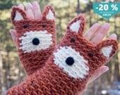 Fox Fingerless Gloves ~ FREE Shipping Worldwide