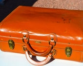 Vintage Hartmann knocabout all leather travel overnight weekender luggage