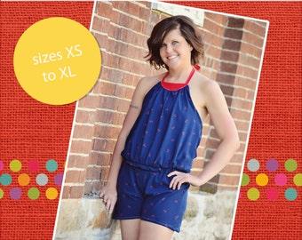Louise's Women's Knit Romper PDF Pattern Size XS to XL