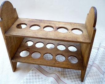 Vintage Wood Tray Egg Holder Egg Crate Wood Racks Egg Tray Shelf French Country