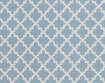 Modern blue small scale ikat quatrefoil decorative pillow cover