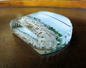 Antique Glass Paperweight - Dumfries Scotland - Table or Desk Accessory - Home or Office Decor