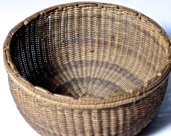 Early Finely Woven Miniature Basket, Early Native American Finely Woven Basket, American style, Antique Native American