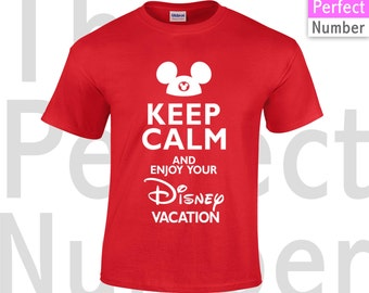 Disney Family Vacation Macthing T-shirt Keep Calm and Enjoy Your Disney Vacation T-shirt
