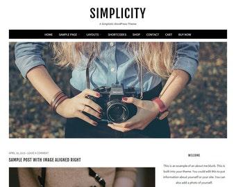 Simplicity: Feminine WordPress Theme Built for Beginner and Intermediate Bloggers