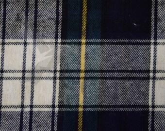 Cotton Flannel Plaid 2 Tartan Fabric by the Yard
