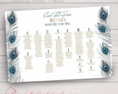 Seating Chart Poster in Any Color/Design from Shop (Color/Font/Text Changes are FREE with Deposit or Digital Purchase)