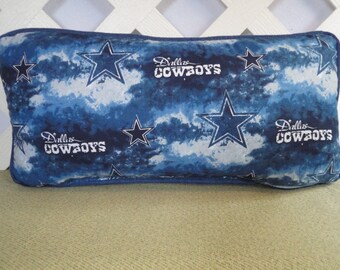 Dallas Cowboys Pillow in Blue and White / Sports Pillow / Blue Pillow