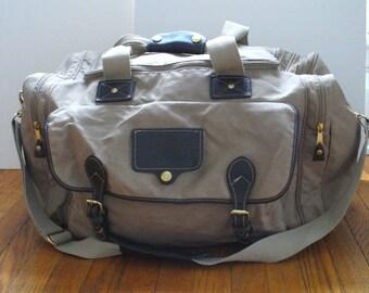 Eddie Bauer Large Khaki Duffle Bag