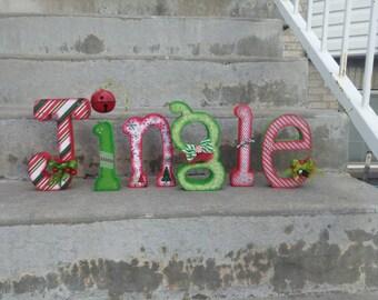 Christmas jingle wood letters