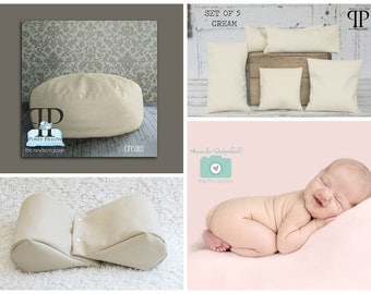 Starter Set #7 ~ Travel size poser, Squishy poser and set of 5 Posey Positioners. Newborn photo props by Posey Pillow