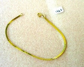 Vintage 14K Gold  Flat Chain Bracelet - 7 Inches - No. 1662