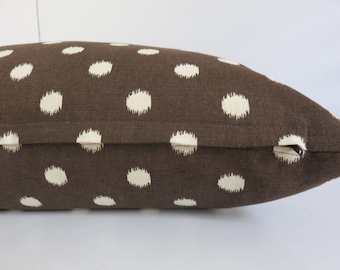 Pair Pillow covers - Dots Cocoa Pillow Cover - 2 Pillow Covers - Set Pillow Covers -Brown Pillow Cover - Dots Pillow - 20x20 - Pillow Cover