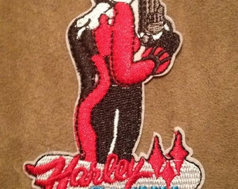 Harley Quinn Embroidered Iron On Sew Patch