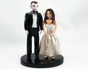 Weddings Bride and Groom cake topper handmade BG0017