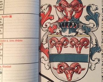 Munich Calendar 1928 Otto Hupp Heraldic Crest Coat of Arms