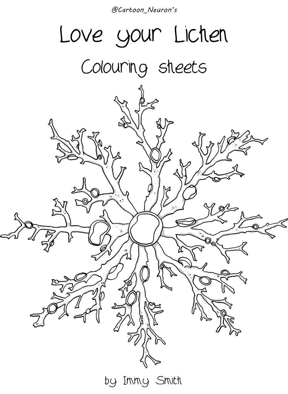 lichen colouring pages sketch coloring page