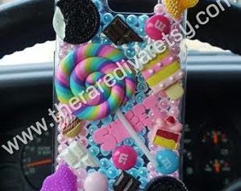 Cute, Bling, Deco Handmade Phone Case - Sweet Tooth