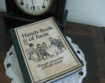 "The original google c. 1916 ~ ""Handy Book of Facts"" :  after dinner entertainment for the whole family"