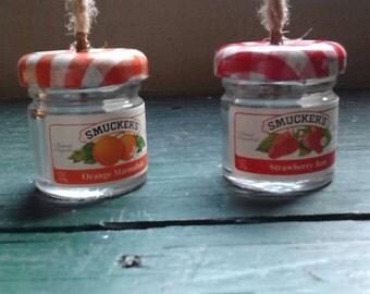 Tiny Jelly Jar Ornaments