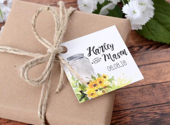 "Personalized Luggage Tags Wedding Gift: MINI 2"" X 2"" Wedding Favor Tags"