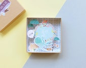 Dream big big message box / Miniature Art / Diorama / 3d Art / Decorative Matchbox / Miniature paper diorama / Birth announcement