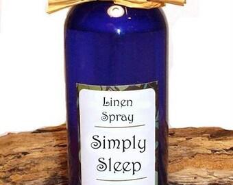 SIMPLY SLEEP - Linen Spray - 4 oz  All Natural Aromatherapy Oil Linen / Pillow / Room Spray