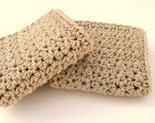 Crochet Washcloth Bathroom Spa Cloth Kitchen Dishcloth Cotton Jute Colored Dish Cloth Crochet Dish Rag Wash Cloth Set of 2 d